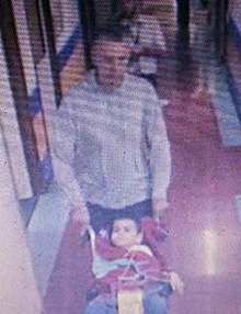 CCTV footage of Ashya King being taken from Southampton hospital