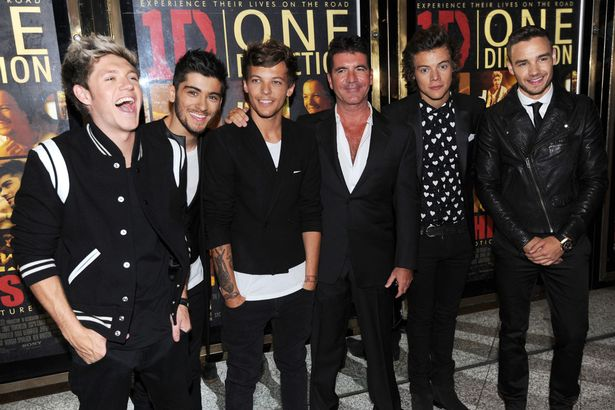 Louis-Tomlinson-Zayn-Malik-Niall-Horan-Harry-Styles-and-Liam-Payne-of-One-Direction-and-Simon-Cowell-attend-the-world